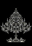 Silver Christmas tree in Victorian style Stock Photography