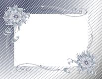 Silver Christmas Wrap and Bow Frame Stock Photography