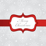 Silver christmas wrapping Stock Image