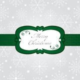 Silver christmas wrapping Stock Images