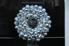 Silver christmas wreath Stock Photography
