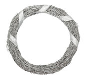 Silver Christmas wreath isolated on the white background Stock Photography