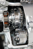 Silver chrome engine. Close up shot of silver chrome engine Stock Images