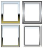 Silver and chrome frames Royalty Free Stock Image