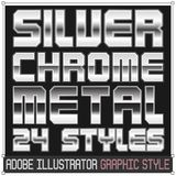 Silver and Chrome Metal Graphic Styles. For adobe illustrator EPS10 version stock illustration
