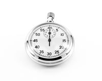 Silver chronometer Royalty Free Stock Photo