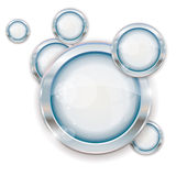 Silver circle frames Royalty Free Stock Photography