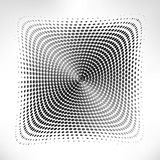Silver circle of halftone Royalty Free Stock Photography