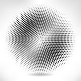 Silver circle of halftone Stock Photography