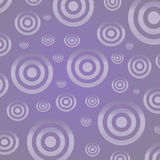 Silver circles on a lilac background Stock Photos