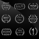 Silver circular laurel Royalty Free Stock Image