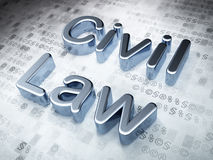 Silver Civil Law on digital background. Law concept: Silver Civil Law on digital background, 3d render Royalty Free Stock Photography