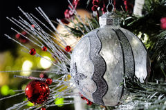 Silver and Clear Christmas Ornament Stock Images