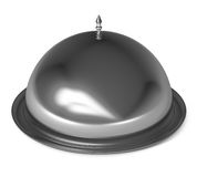 Silver Cloche Isolated on white Stock Image
