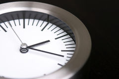 Silver clock Stock Photo