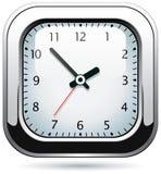 Silver clock Stock Photos