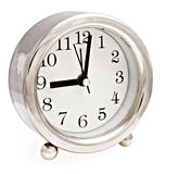 Silver clock Royalty Free Stock Images