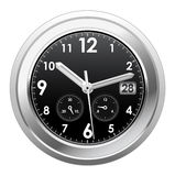 Silver clock Royalty Free Stock Image