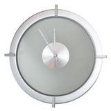 Silver Clock Royalty Free Stock Image