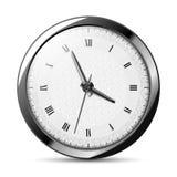Silver clock Stock Image