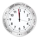 Silver Clock. Last Minute Gift One Minute Before Twelve royalty free illustration
