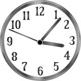 Silver clock, time, year, passing simple concept Royalty Free Stock Photo