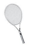 Silver Closeup Tennis Racket Royalty Free Stock Images