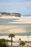 Silver coast, the obidos lagoon, Portugal Royalty Free Stock Images