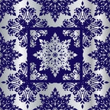 Silver cobalt reflief sq Royalty Free Stock Images