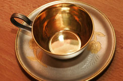 Silver coffee cup Royalty Free Stock Photos