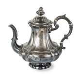 Silver coffee pot Stock Photos