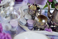 Silver coffee service Royalty Free Stock Image