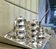 silver coffee set Stock Image