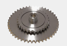 Silver cogwheels Royalty Free Stock Photography