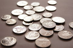 Silver coin Stock Photos
