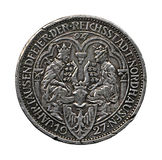 The Silver coin. Stock Image