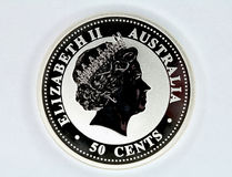 Silver coin of Australia Stock Photography