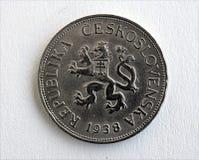 Silver coin - Czechoslovakia Stock Photography