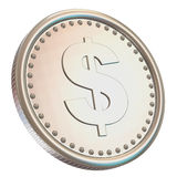 Silver Coin Isolated on white background Royalty Free Stock Photos