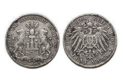 Silver coin 5 Mark 1907 Stock Photography