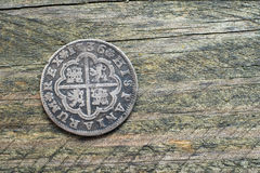 Silver coin Royalty Free Stock Photography
