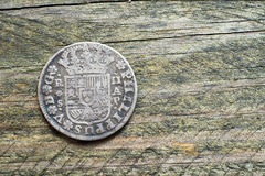 Silver coin Royalty Free Stock Photo