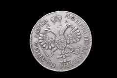 Old Russian silver coin Royalty Free Stock Images