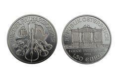 Silver Coin Vienna Philharmonic 1oz 2013 Stock Photos
