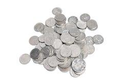 Silver Coins stock photos
