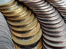 Silver coins Stock Images