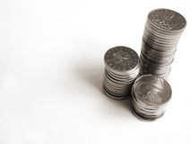 Silver coins Royalty Free Stock Images