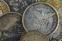 Silver coins Stock Photography