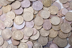 Silver coins. Silver and gold coins from russia Royalty Free Stock Image