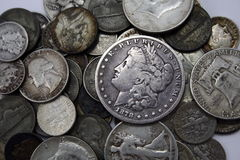 Silver Coins Stock Image